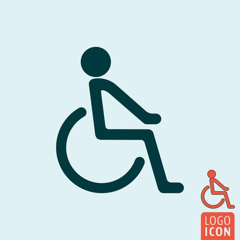 Disabled icon isolated
