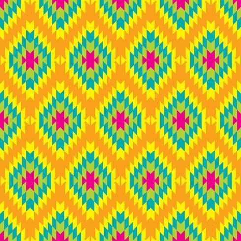 Mexikanisches folkloristisches Maßwerk-Textilnahtloses Muster