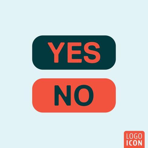Botão sim não