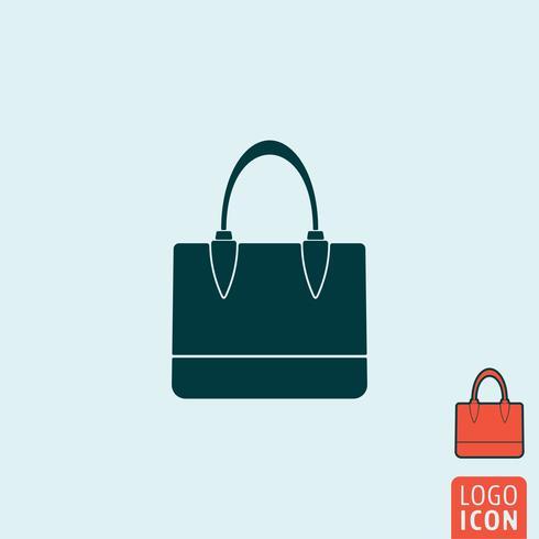 Handväska ikon isolerad.