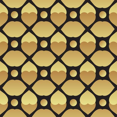 Universal vector preto e ouro sem costura padrão de ladrilho.