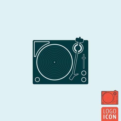 Vinyl platenspeler pictogram geïsoleerd.