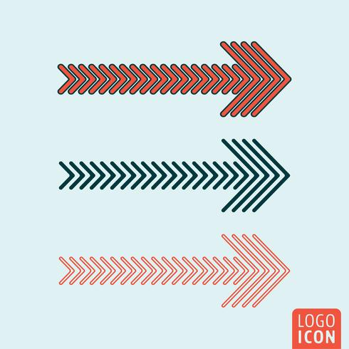Arrows icon isolated