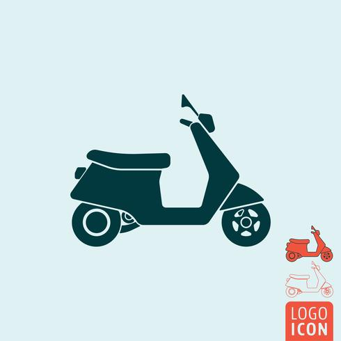 Scooter ikon isolerad