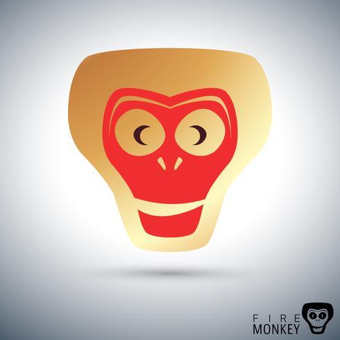 Icona di scimmia di fuoco