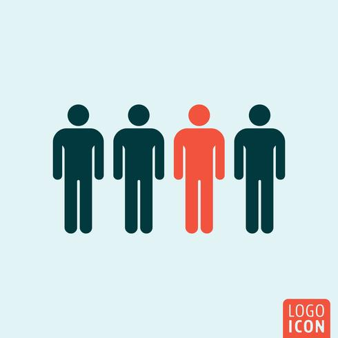 People icon isolated vector
