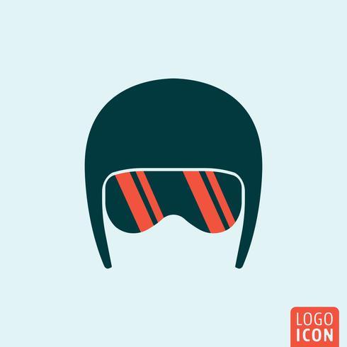 Icono de casco aislado vector