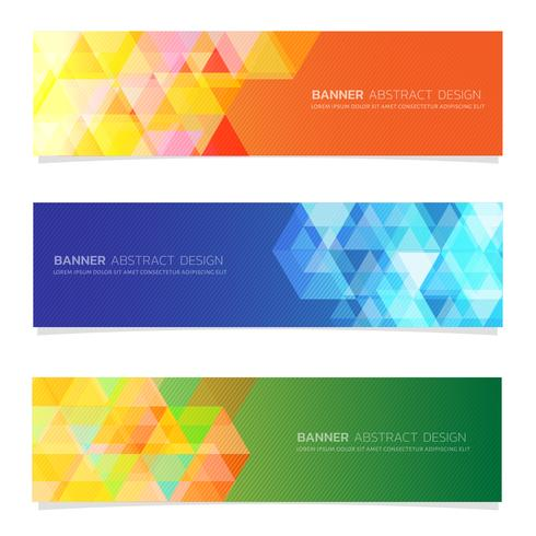 Abstract  design banner web set   template. vector
