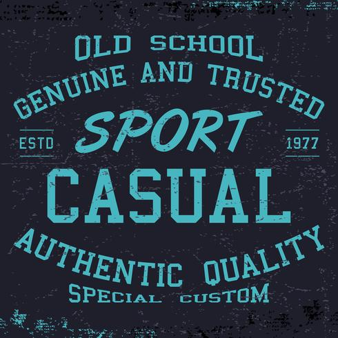 Sport stampa casual