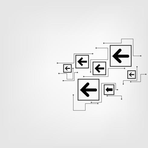 Vector technology arrow design.