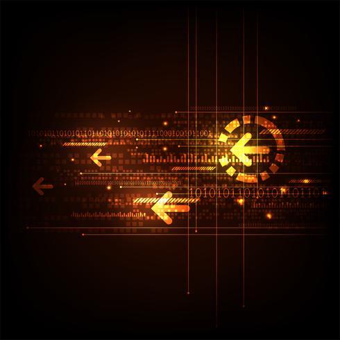 Diseño digital abstracto de la tecnología de fondo del vector. vector