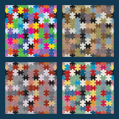 Puzzle seamless set