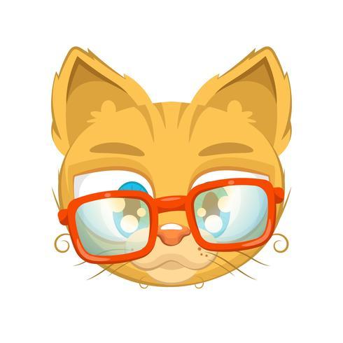 Gattino carino con gli occhiali