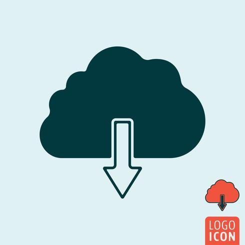 moln ikon isolerad