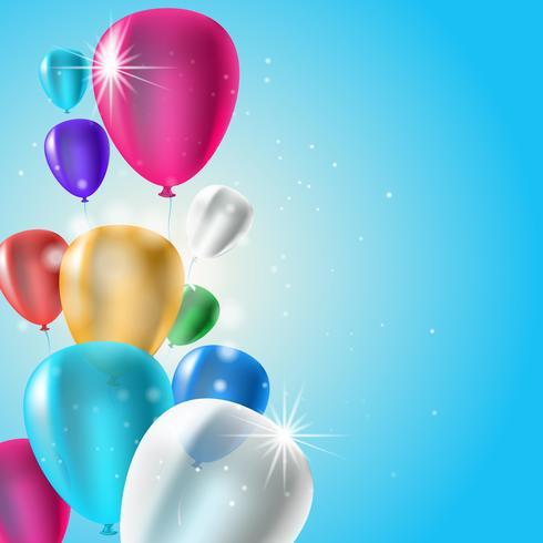 Fondo de globos de cumpleaños