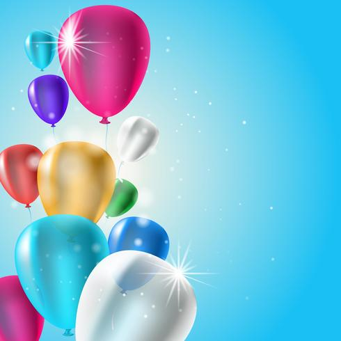 Fond de ballons d'anniversaire