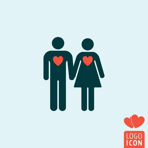 Man and woman icon isolated