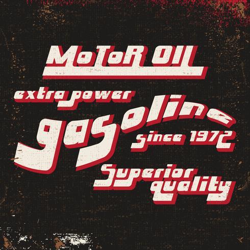Timbro vintage di benzina