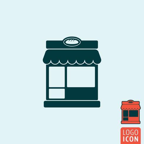 Bageri ikon isolerad