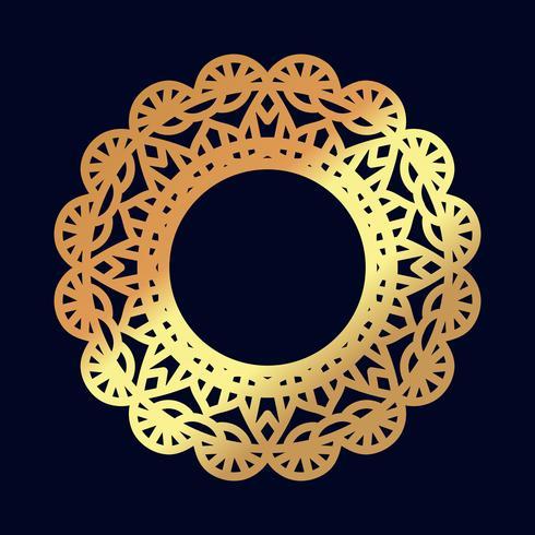 Gold mandalas. Indian wedding meditation. vector