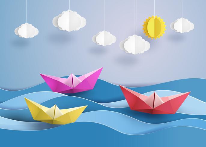 velero de papel
