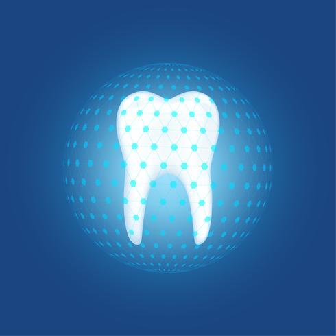 Protección del dentista. Cuidar el concepto de dientes. vector