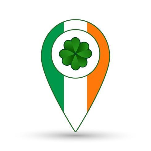 Ireland flag location icon