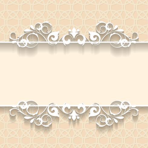 Papel de marco de la boda