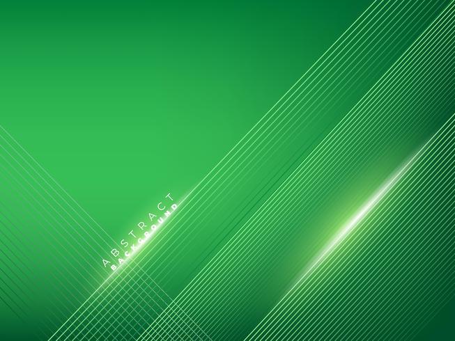 Elegante sfondo verde linee creative