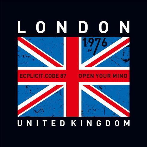 Londres tipografia design tee camiseta gráfico impresso