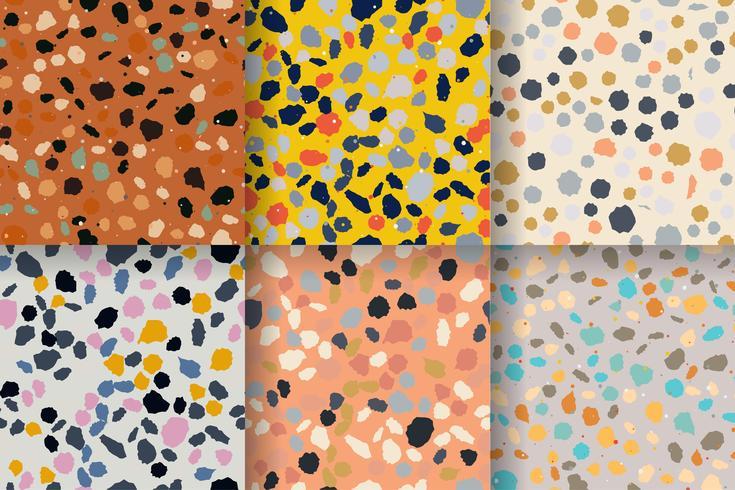 Terrazzo seamless pattern. Imitation of a Venetian stone floor vector
