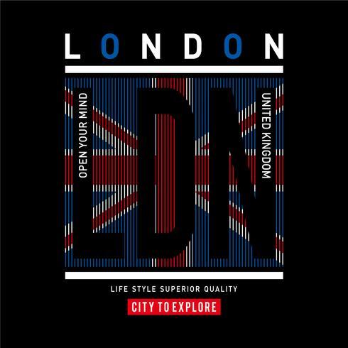 London typography design tee-shirt graphic-printed
