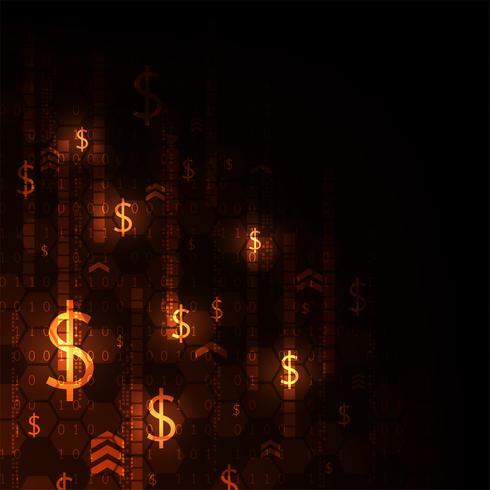 Alternativa di denaro elettronico per il futuro. vettore