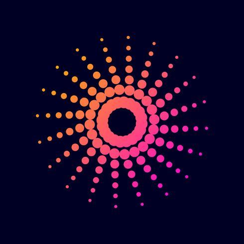 Gradiente de semitono círculo de puntos.