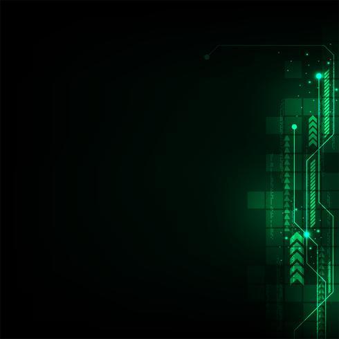 Tecnología del sistema electrónico. vector