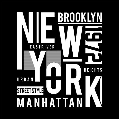 T-shirt grafisch bedrukt New York-typografieontwerp