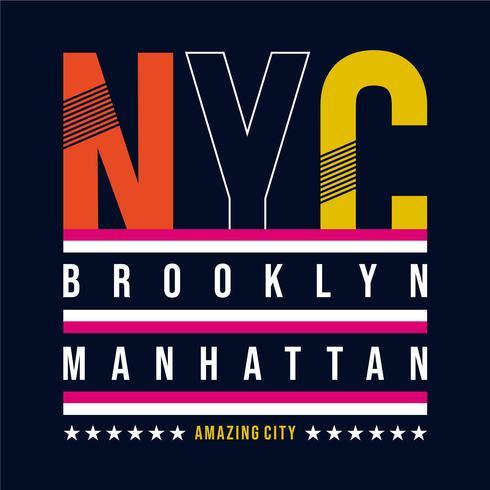 New York typography, t-shirt graphics