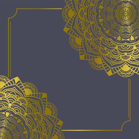 Elementos de decorações vintage de mandala e quadros de ilustração vetorial [convertido]