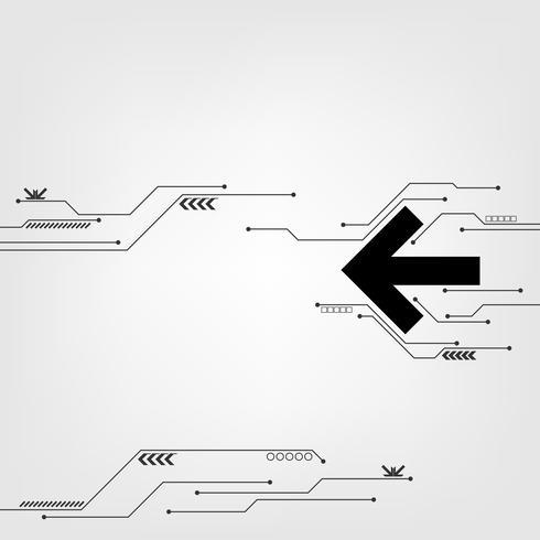 Vektor Technologie Pfeil Design.