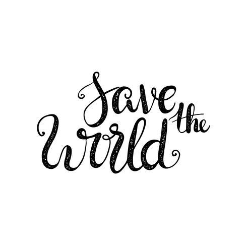 Milieu. Laten we samen de wereld redden. vector