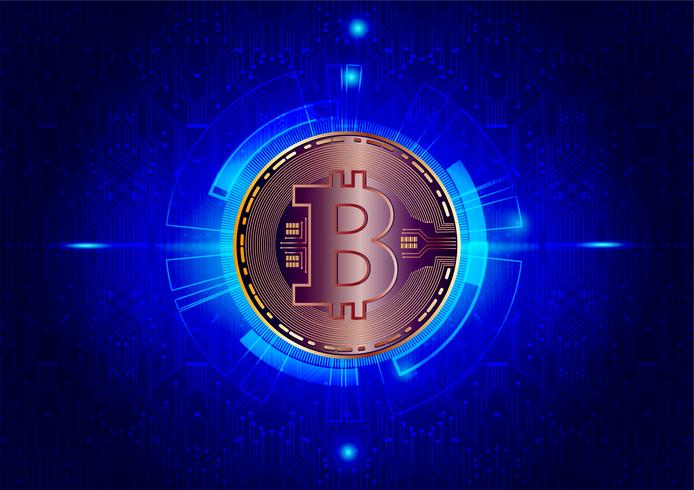Abstract background of Bitcoin digital currency for technology, business and online marketing, Vector illustration