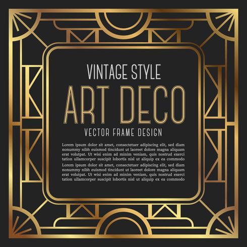 Vintage frame art deco style. vector illustration