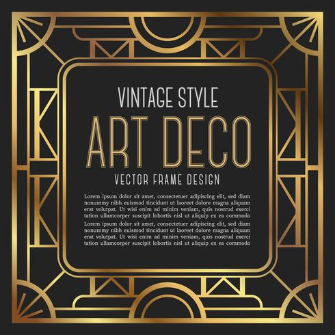 Vintage Frame Art-Deco-Stil. Vektor-Illustration vektor