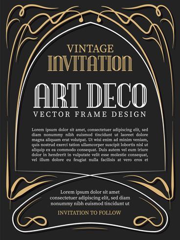 Luxury vintage frame art deco style. vector illustration