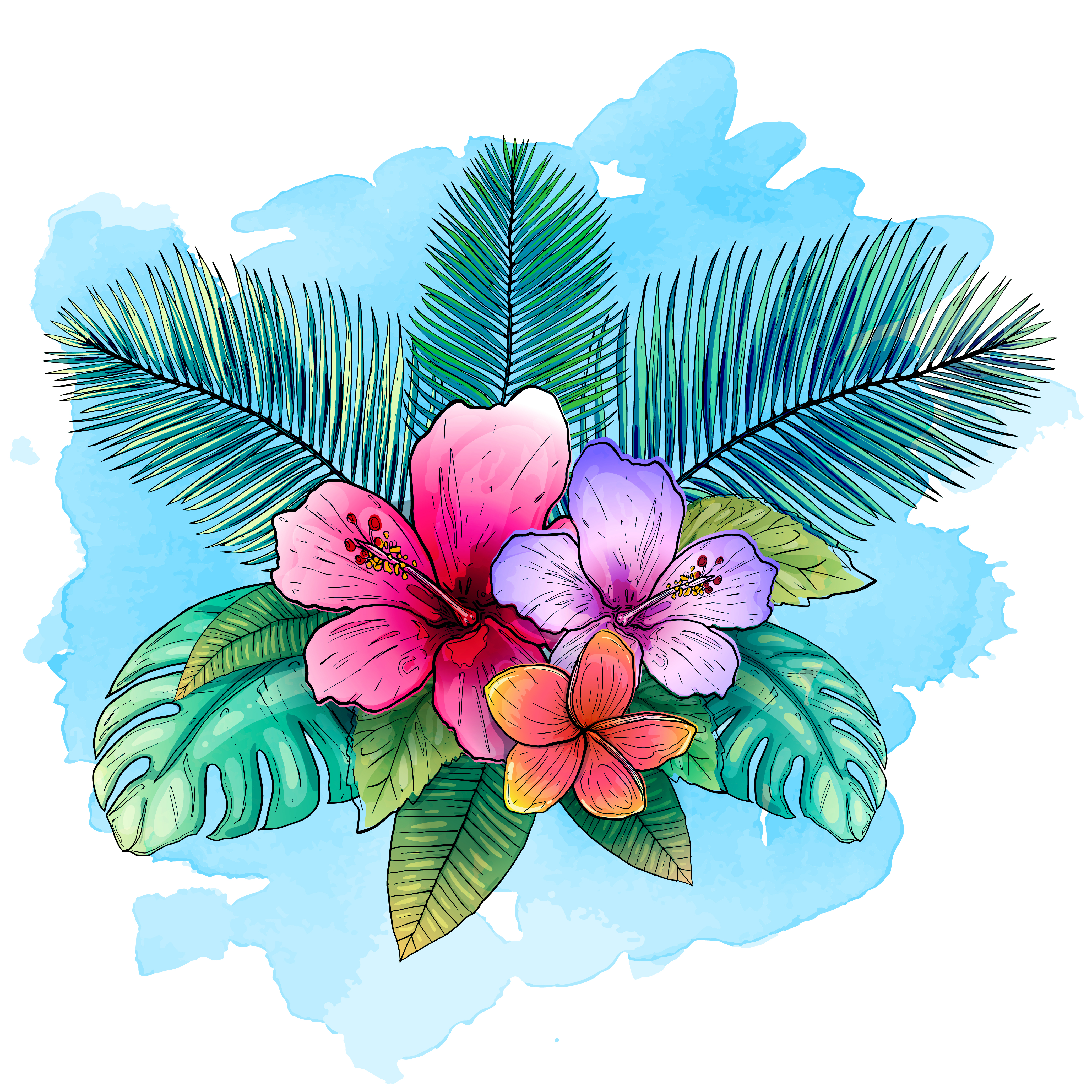 Tropical Vector Design For Banner Or Flyer With Exotic