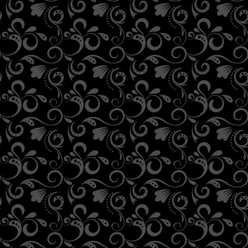 Black damask pattern