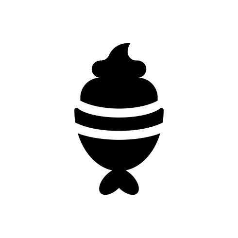 Fish-Shaped Ice Cream vektor illustration, godis stil stil ikon
