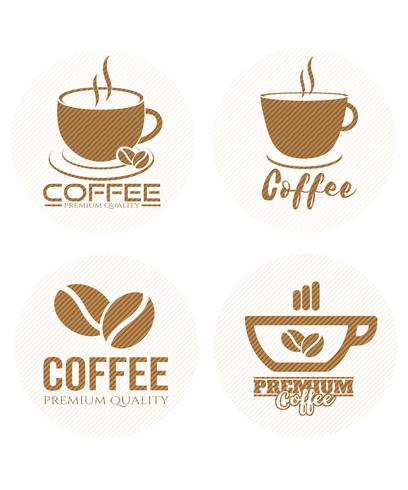 Set of coffee label.logo, badge,emblem collection on white background.