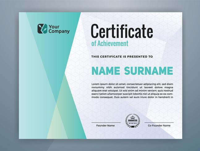 Plantilla profesional moderna multiusos del certificado