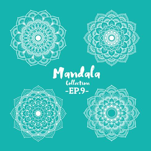 Set of mandala decorative and ornamental design